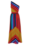 Get the look for more. Splurge on this Paradise Stripe Maxi Dress from warehouse.co.uk for £100. Pricey but catchy!