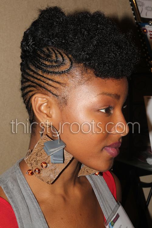 Natural Hair Braided Mohawk