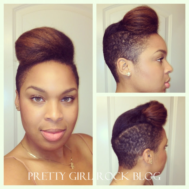 Crochet Hairstyles With Shaved Sides : Natural Hair with Shaved Sides