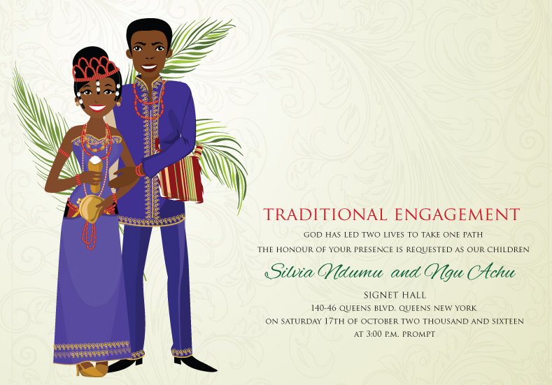 Cultural Wedding Invitations: Had To Share: Bibi Invitations Presents African Themed