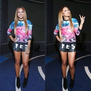 Steal Her Style: Karrueche Tran's 106 & Park Christian Louboutin So Kate Ankle Boots (Reaction To Backlash For Criticizing Blue Ivy's Hair)