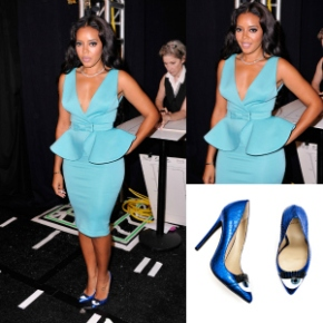Steal Her Style: Angela Simmons Arts Hearts Fashion Show CLAN Mint Valentin Dress and Kandee Eye Spy Pumps