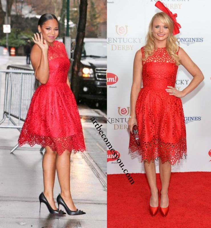 whore it better: Red Lace Gidgette Dress by Randi Rahm Better: Ashanti or Miranda Lambert