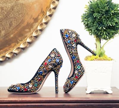 kelis glittery heels