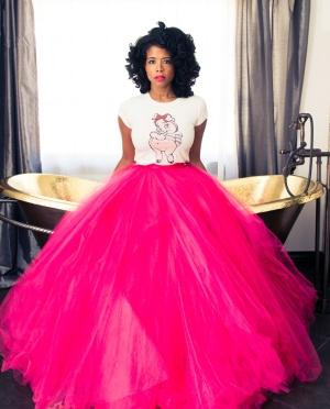 kelis pink tulle skirt