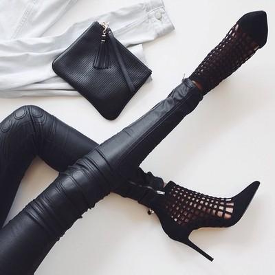 laser cut boots legs