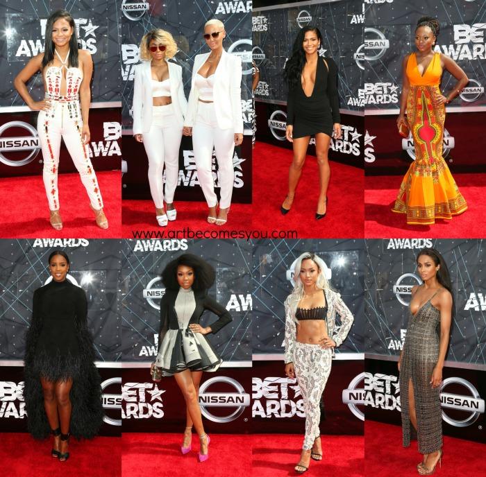 2015 bet awards red carpet fashion