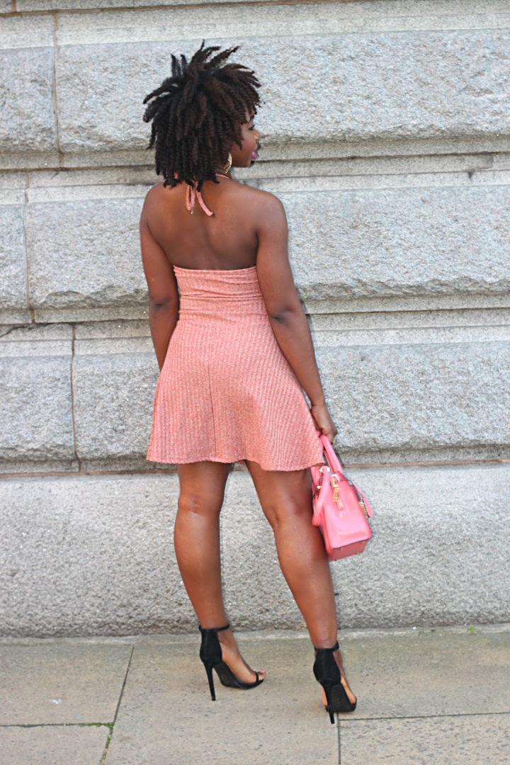 ribbed dress clear
