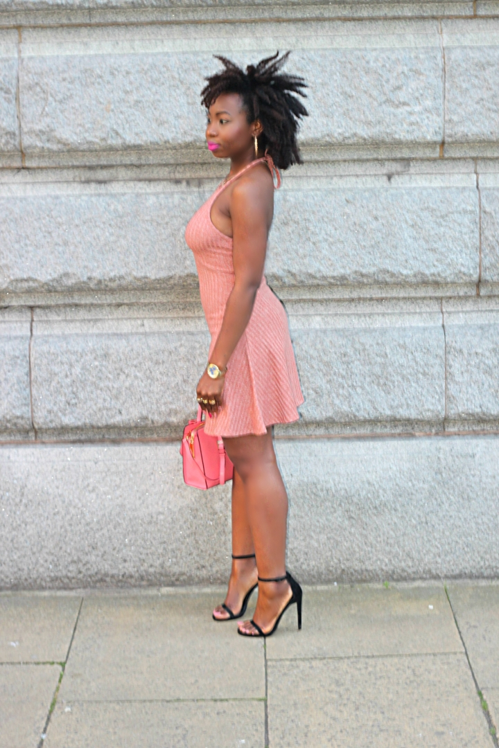 ribbed dress halter