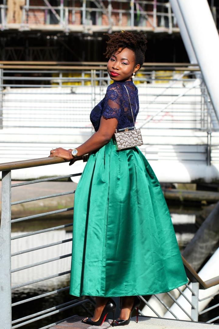 maxi skirt green a