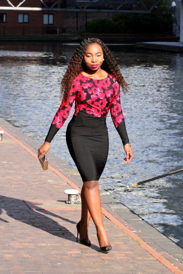 valentino floral print dress a