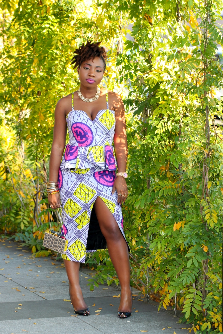 ANKARA PEPLUM DRESS 446a