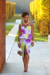 ankara print dress a