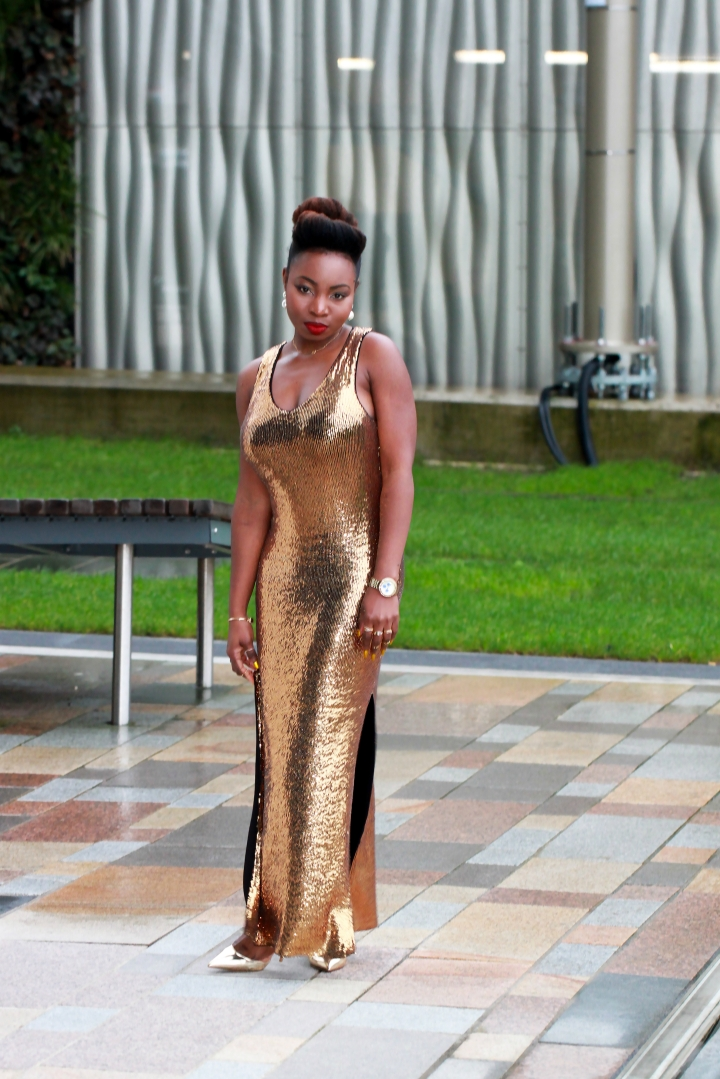 gold sequin vila dress nye outfit idea a