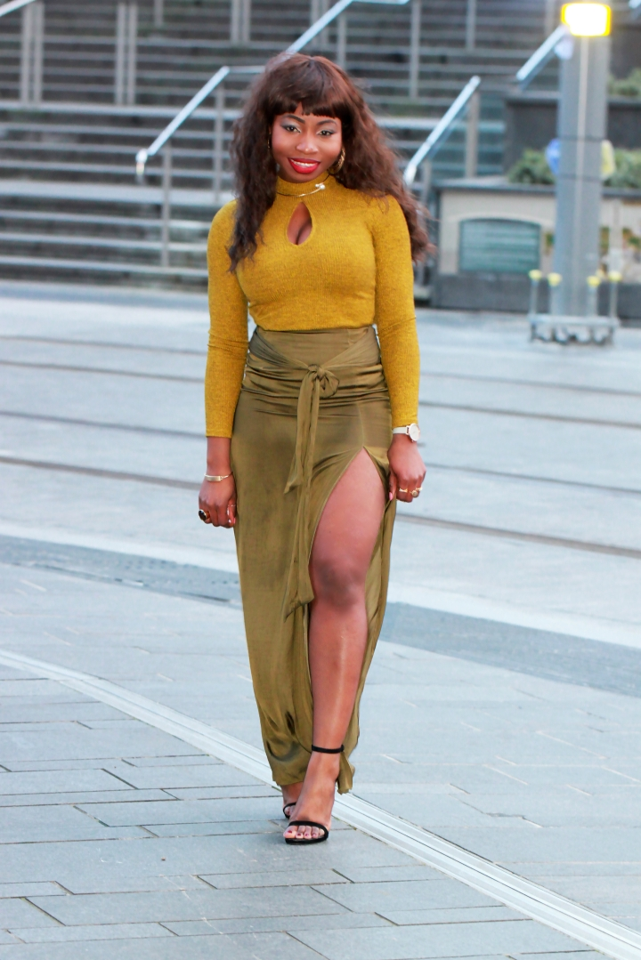 chartreuse monochrome outfit a