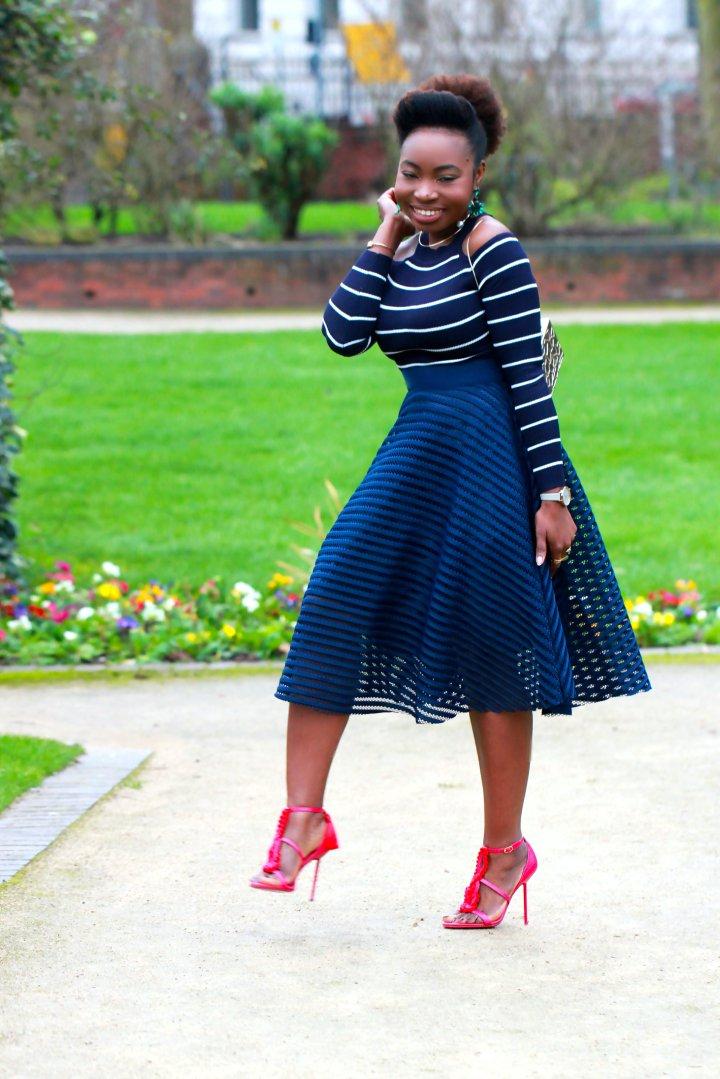 stripes overlay skirt new look a