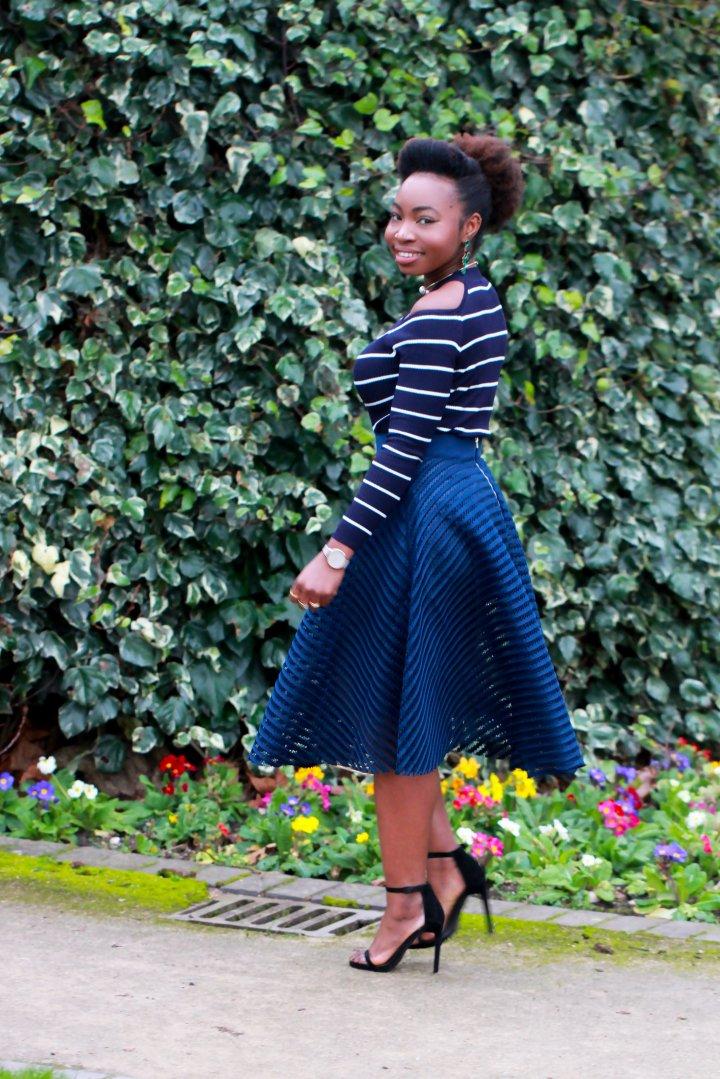 stripes overlay skirt new look jumper a