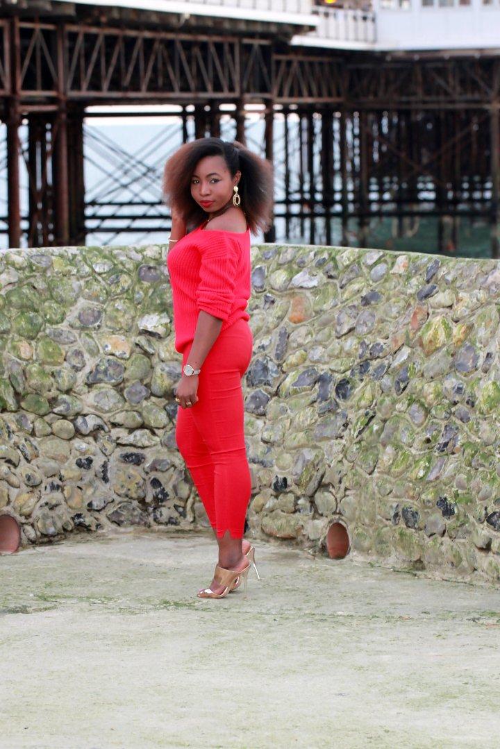 missguided all red outfit asos cigarette trousers a