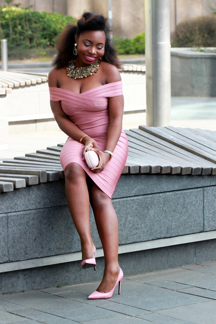 kewl shop pink bandage dress a