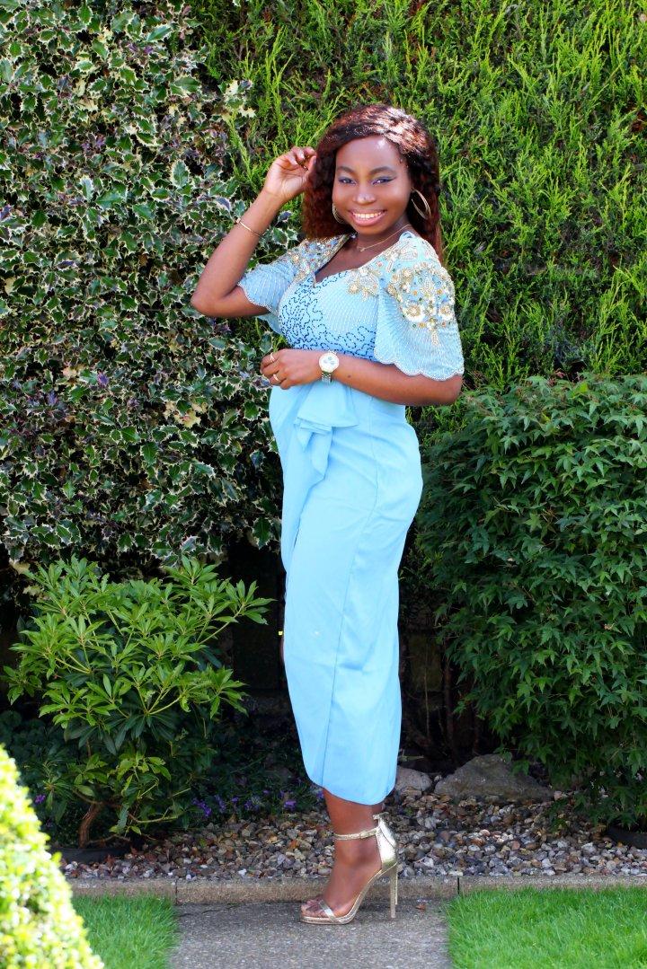 laila blue virgos lounge dress a